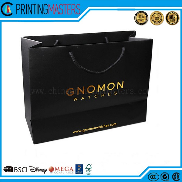 2017 New Luxury Shopping Paper Bag For Gift