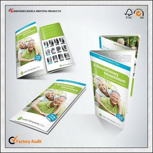 Low Price Printing Three Folded Brochure Design