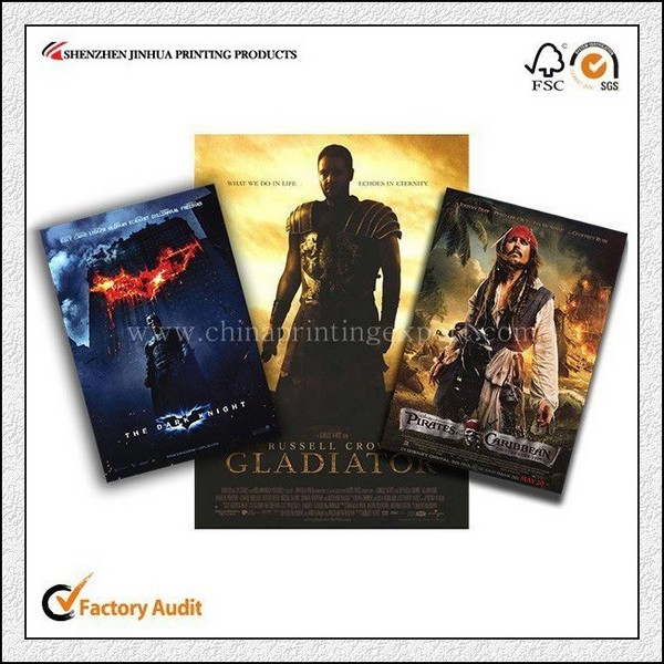Promotional OEM Colourful Foldable Movie Poster Printing