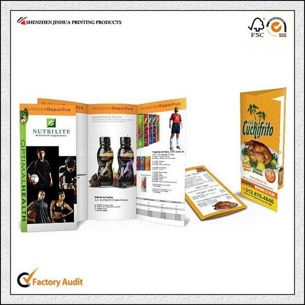 Promotional Brochure Sample Printing Services For Company