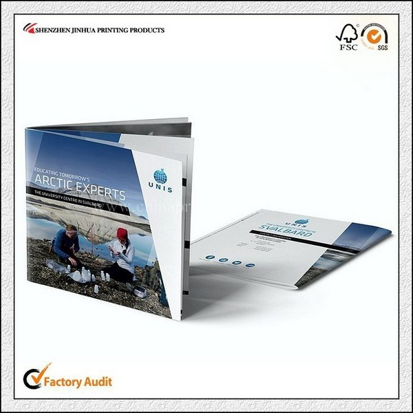 Custom Small Attractive Travelling Brochure Printing China