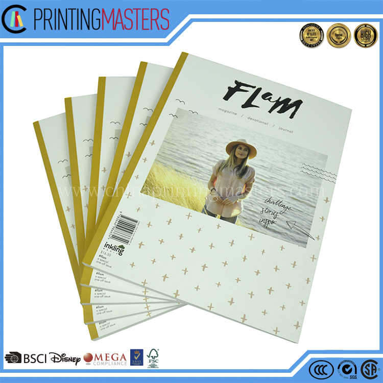 High Quality paperback perfect bound offset printing Magazine