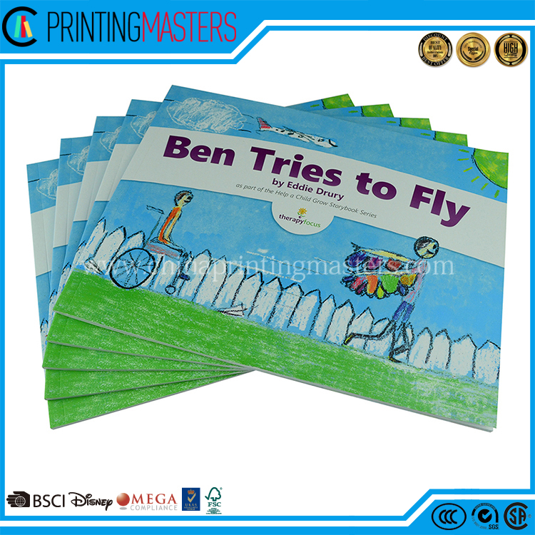 Full Color Children's Book Offset Printing matt Lamination Throughout