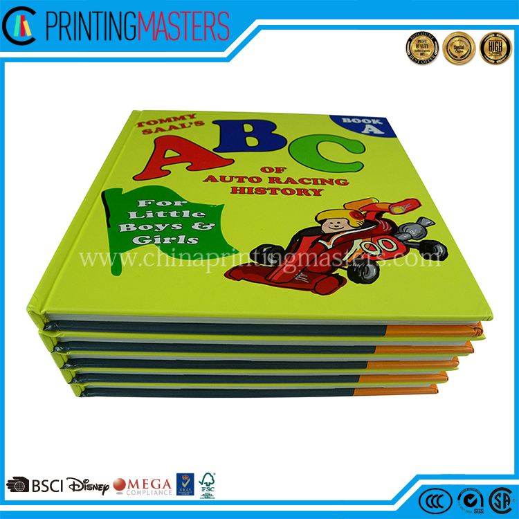 Square ABC Children Hardcover Book Full Color Offset Printing