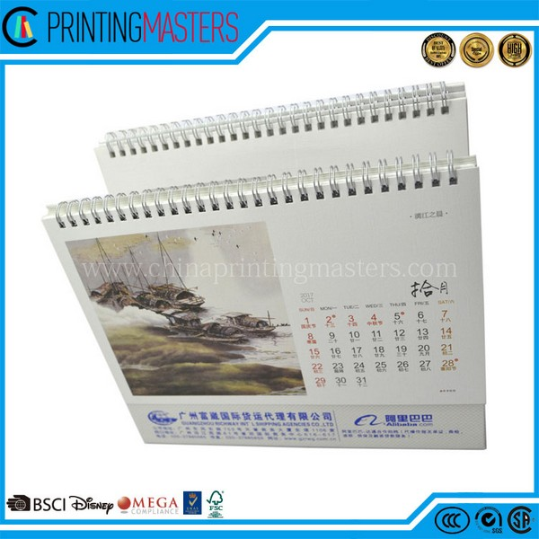 2017 Printing Factory Custom Desk Calendar Printing China
