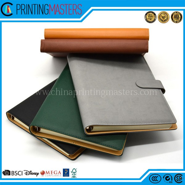 2017 Latest Custom Leather Notebook Printing In China