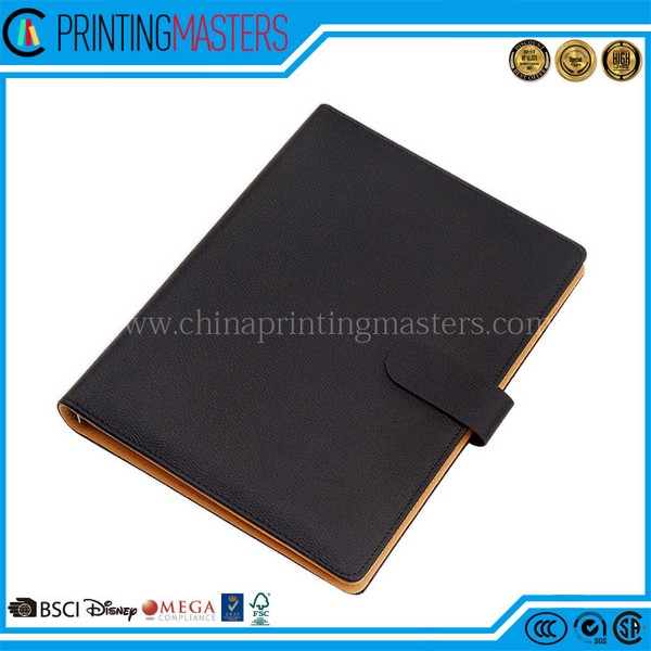 2017 Customized High Quality Leather Cover Diary