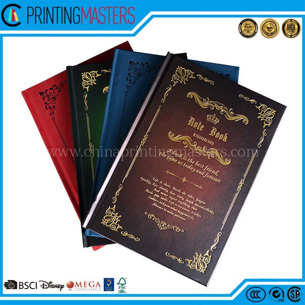 2017 High Quality Hard Cover Note Books Printing