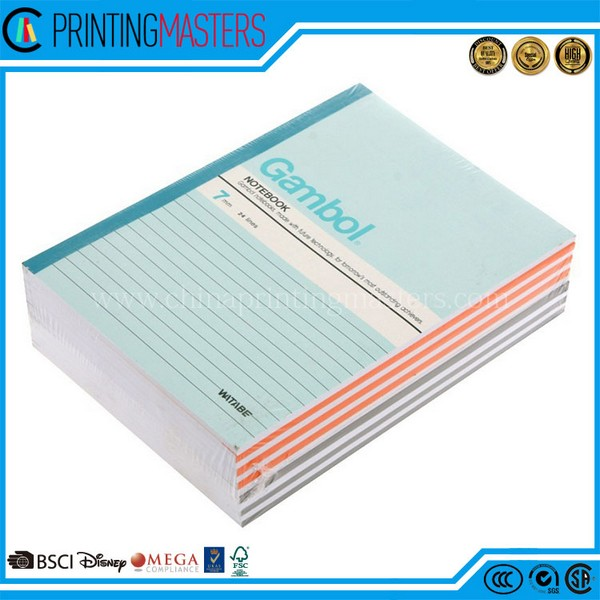 China Printing Personalized Cheap Soft Cover Notebook