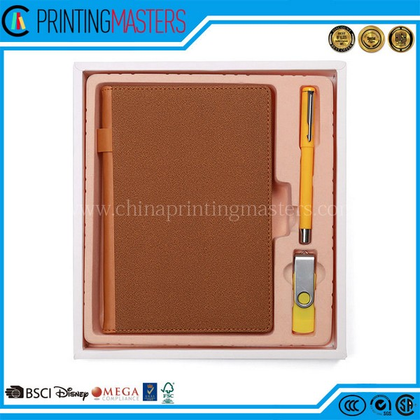 Custom High Quality Recycled Pu Leather Notebook Printing