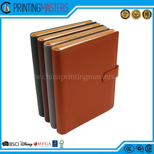 Factory Custom Recycled Pu Leather Notebook Printing