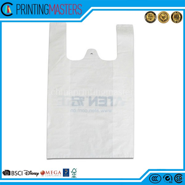 Customed Sealing Ldpe Hdpe Die Cut Handle Plastic Bag