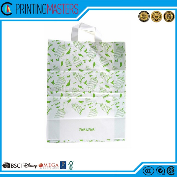 Gravure Printing Heavy Duty Plastic Loop Handle Bag