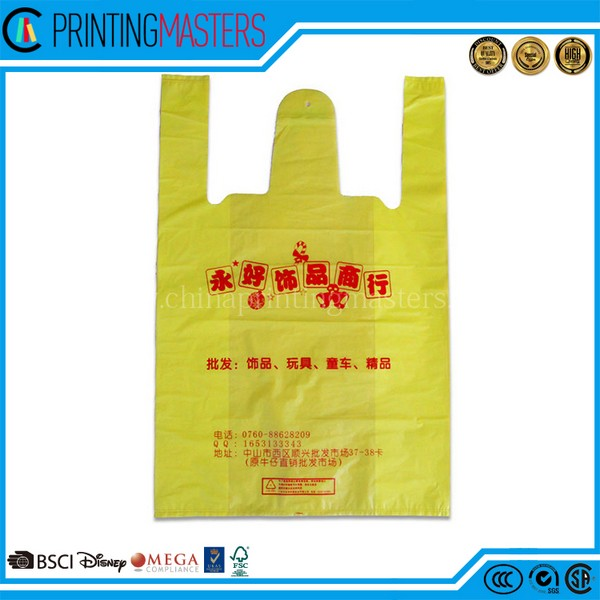 Cheap Custom Grocery Store Use T Shirt Bag Biogradable
