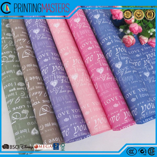 High Quality Custom Printed Wrapping Paper China