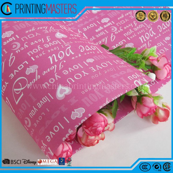 Custom High Quality Completely Gift Wrapping Crepe Paper