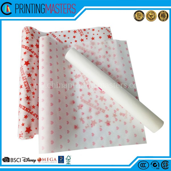 Custom Printed Cheap Food Grade Greaseproof Wrapping Paper