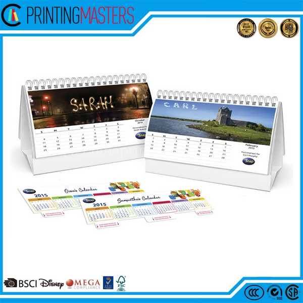 Cheap Custom Desk Calendar Printing In China Factory