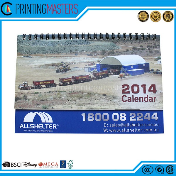 2017 Custom Monthly Office Calendar Printing In China