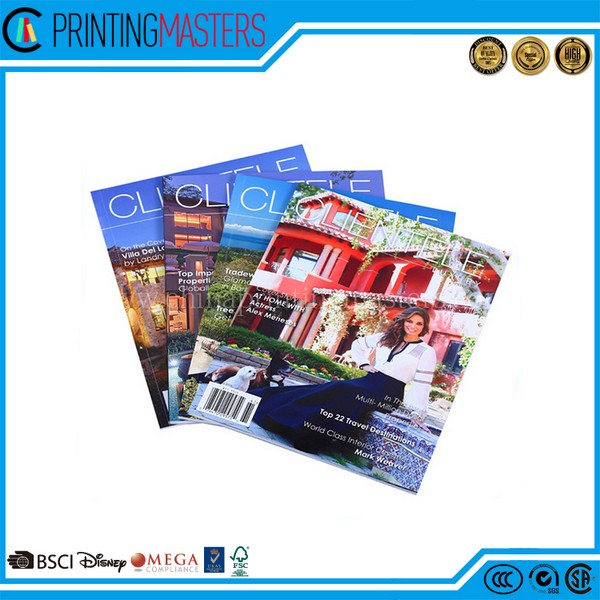 2017 Custom Offset Printed Cheap Magazine Prin1ting