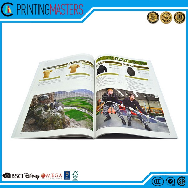 High Quality Perfect Binding With Sewn Cagalog Printing