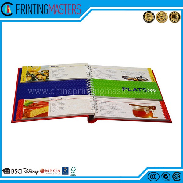 2017 Customized Offset Print Cook Books