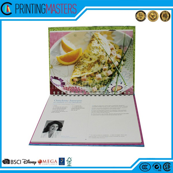 Colorful High Quality Cook Book Printing In China