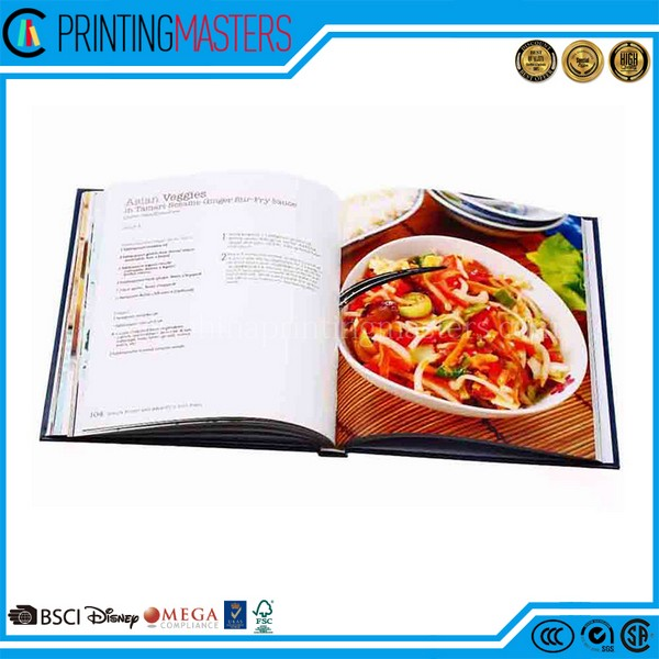 Cook Book With Professional Printing Factory