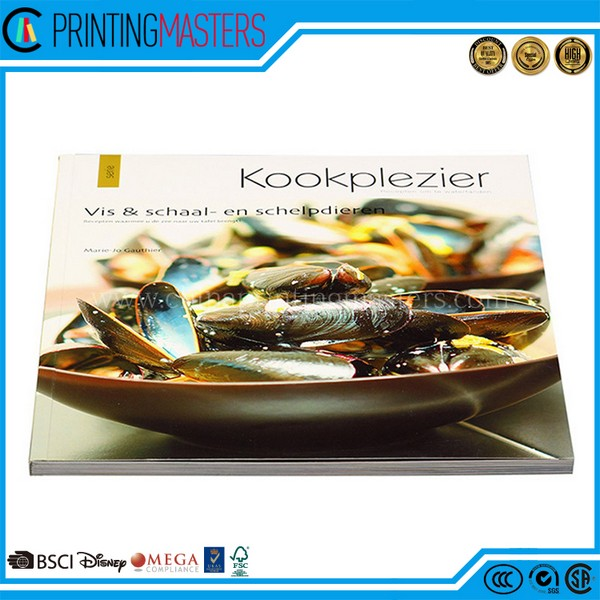 Custom Colorful Softcover Cook Book Printing In China