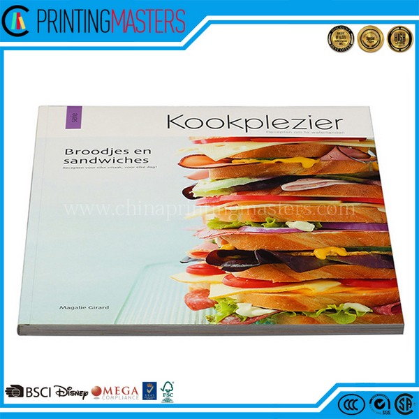 Customize Full Color Cooking Book Printing