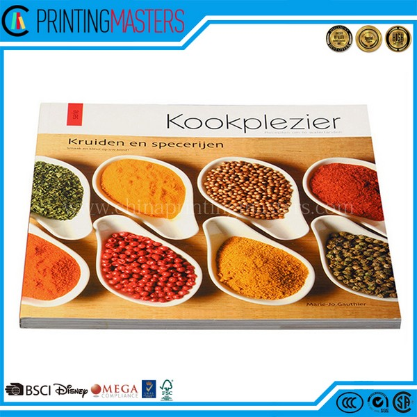 High Quality Full Color Cook Book Printing