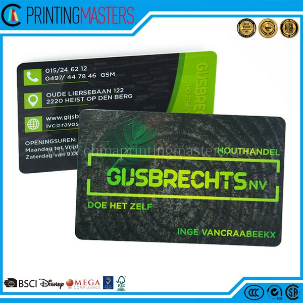 China Factory Price Customized Printing Plastic Business Cards