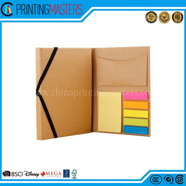 Eco Friendly A5 Paper Kraft Sticky Fancy Notepad