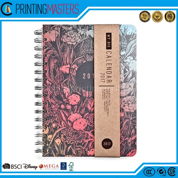Custom Cheap Price Printing Spiral Bound Branded Notebook