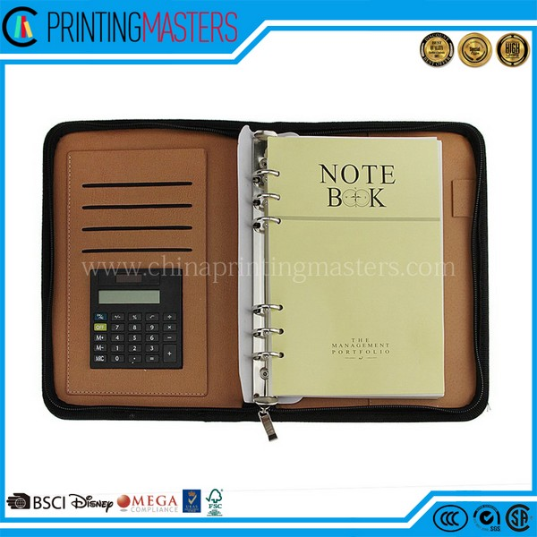 PU Cover A5 Notebook Spiral Bound With High Quality