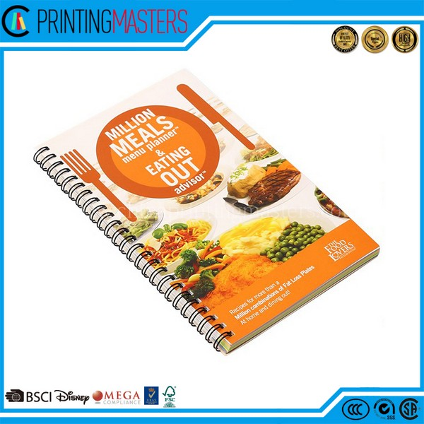 Custom Spiral Bound Notebook Printing With Cheap Price