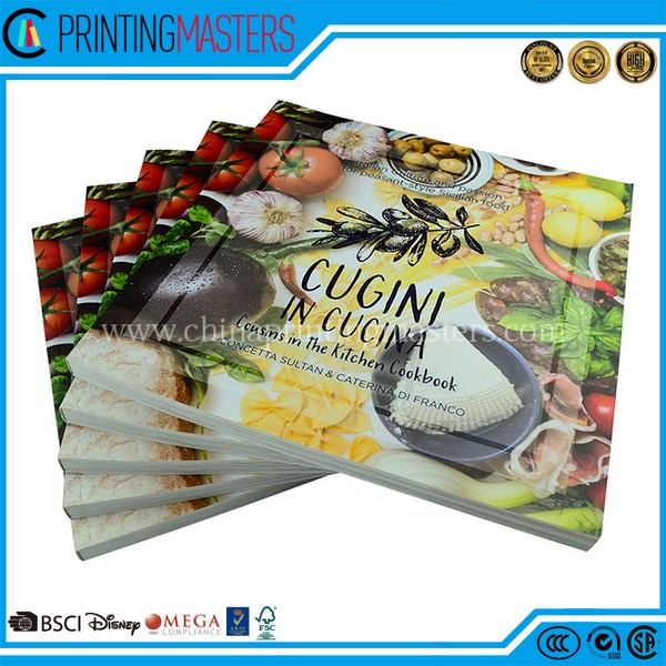 Customized UV Spot Offset Printed Cook Book Printing