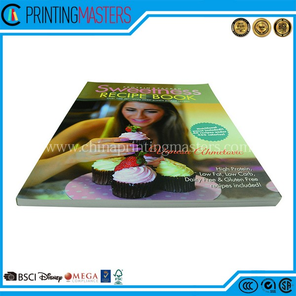 2018 New Printing CMYK Cooking Book With Low Cost