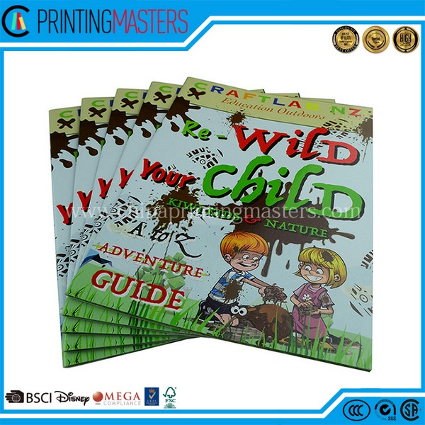 High Quality Saddle Stitched CMYK Story Book Printing