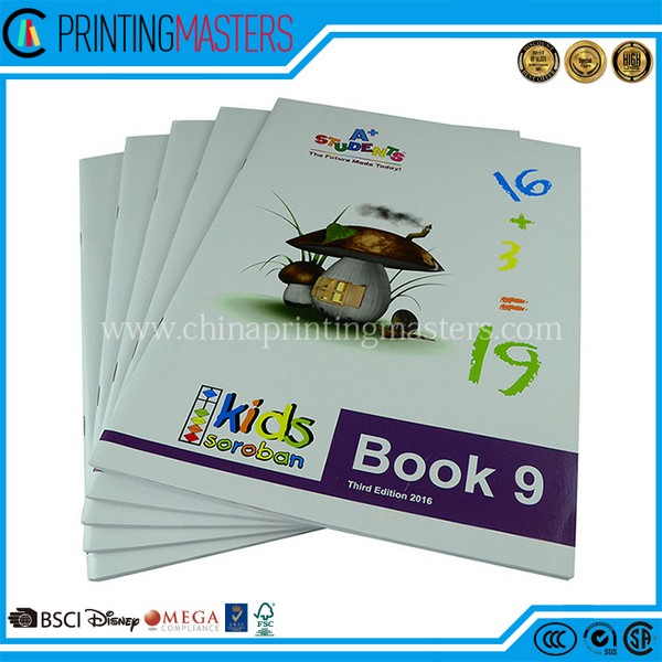 2018 New Custom Children Exercise Book Printing China