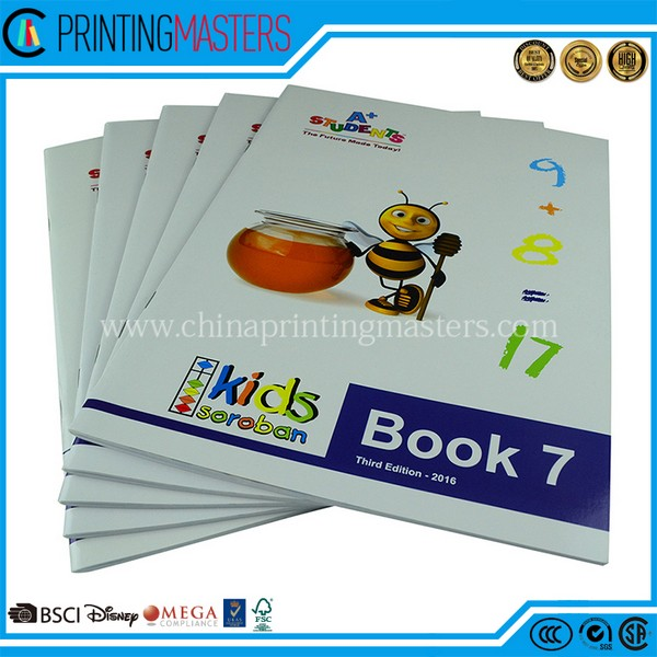 Custom Book Printing Cheap Children Exercise Book Printing