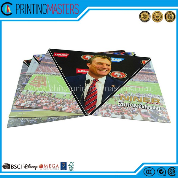Cheap Price Customized CMYK Wall Calendar Printing China