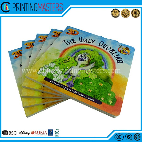 High Quality Round Corner Children Cardboard Book Printing