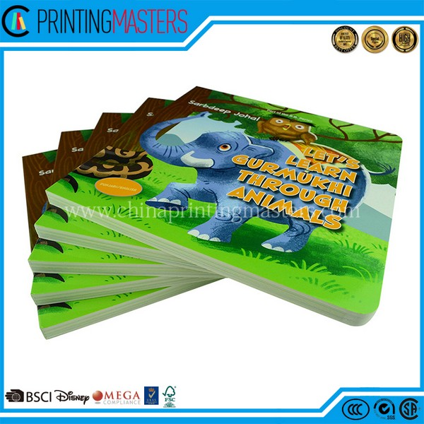 2018 Customized CMYK Printed Cardboard Book Printing China
